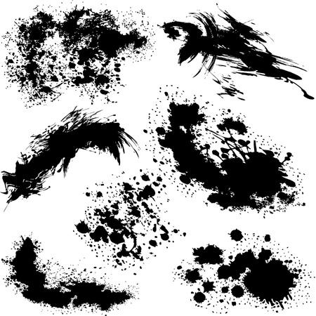 Splatters various  Vector