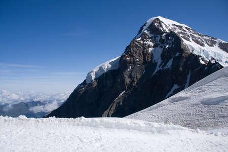 monch: Jungfraujoch, Switzerland Stock Photo