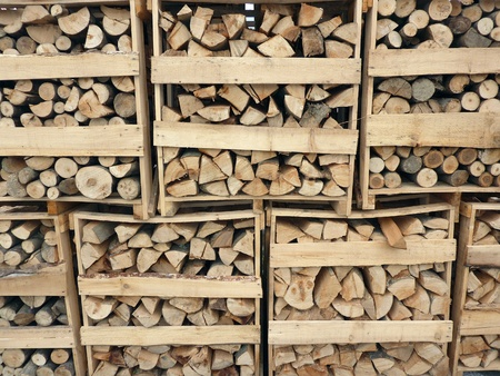 lumber industry: Stack of firewood  Stock Photo