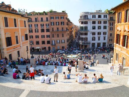 monti: View of Piazza di Spagna, Rome, Italy, Europe
