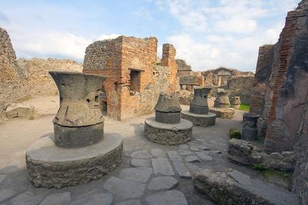 sorrento: Pompeii ruins after the eruption of Vesuvius, Italy, Europe