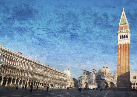 San Marco square in Venice, Italy photo