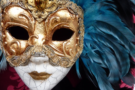 hidden: Venetian carnival mask Stock Photo