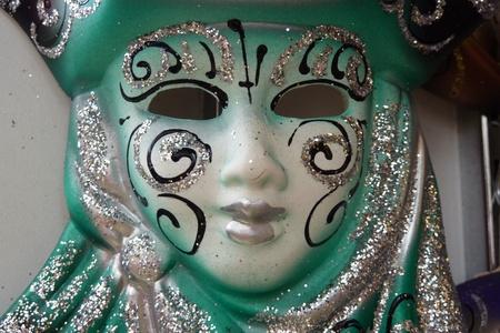 painted face mask: Venetian carnival mask Stock Photo