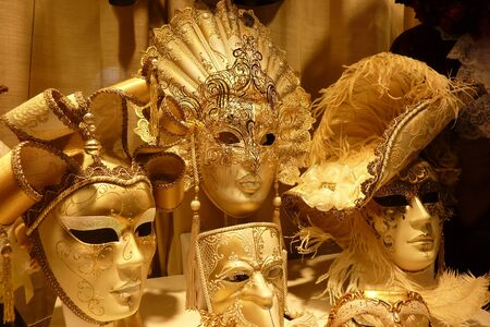 painted face mask: Traditional venetian masks