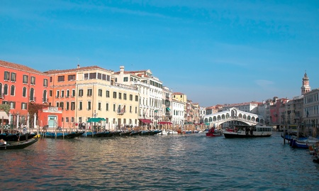 waterbus: Famous water street in Venice, Italy