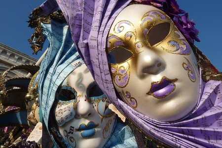 Hand made venetian masks photo