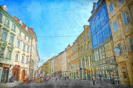 Romantic interpretation of Ljubljana, Slovenia photo