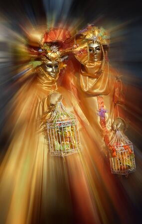 Venedig, Italien - Februar 26: Maske Venedig am Markusplatz