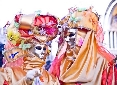 VENICE, ITALY - February 26. 2011: Venice mask at St. Mark