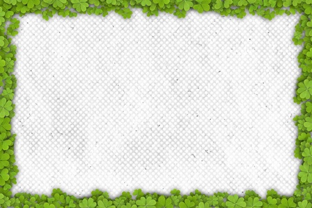 st patrick s day: shamrock border on paper with place for your text