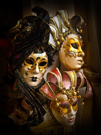 painted face mask: Masks, Venice, Italy