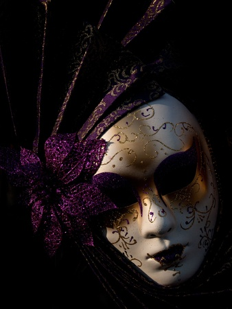beauty mask: Traditional Venetian carnival mask