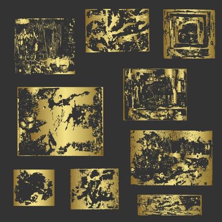 Grunge gold frames vector Stock Vector - 13190668