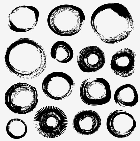 distressed: Different grunge rings vector