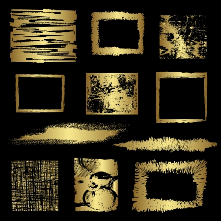 Grunge golden frames