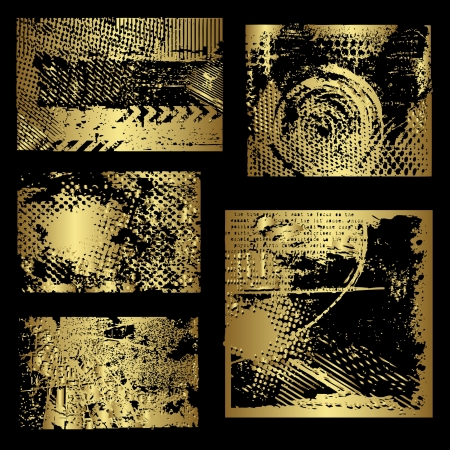 border line: Gold grunge elements