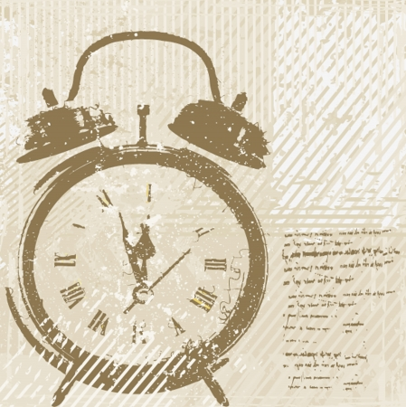 Vintage clock  Stock Vector - 15166636