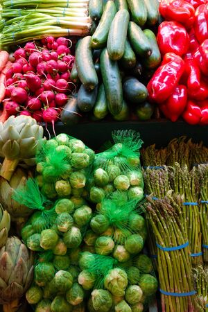 Fresh vegetables at the farmers market photo