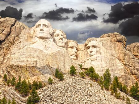 Mount Rushmore National Monument, South Dakota, United States Stock Photo - 17146651
