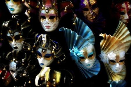painted face mask: Venetian masks Stock Photo
