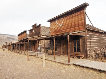 carreta madera: Ghost Town, Cody, Wyoming, Estados Unidos