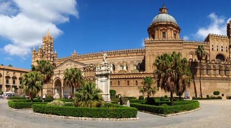 palermo italy: Palermo Cathedral, Sicily, Italy, The church was erected in 1185 by Walter Ophamil  or Walter of the Mill , the Anglo-Norman archbishop of Palermo and King William II s minister