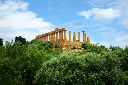 agrigento: Ancient temple in the valley of the temples in Agrigento, Sicily, Italy