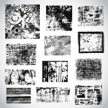 scatter: Collection of grunge textures vector