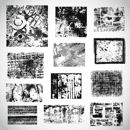 rozpraszać: Kolekcja wektora grunge tekstury Ilustracja