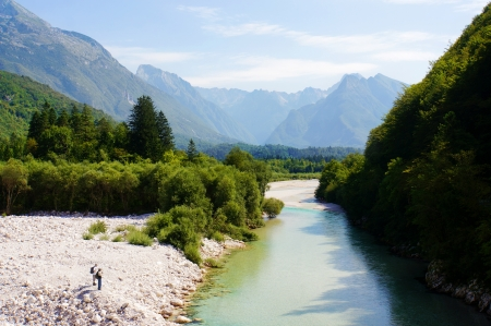 Beautiful nature in Bovec, Slovenia photo