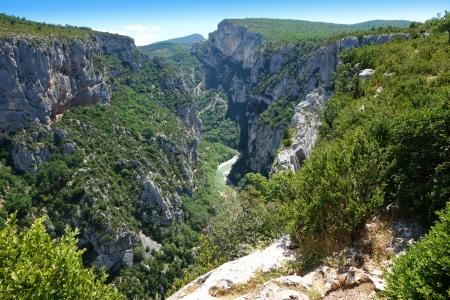 gorges: Gorges du Verdon european canyon and river, Provence, France