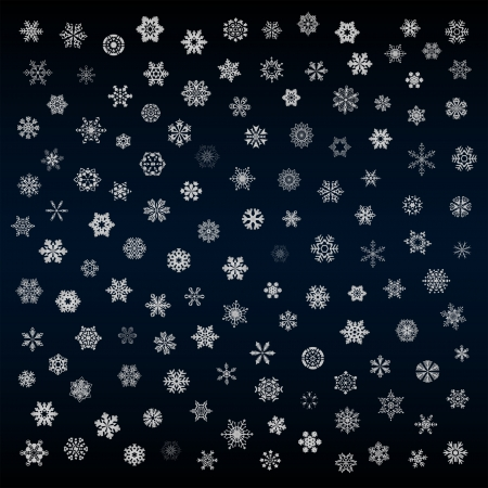 natal: Snowflakes set vector Illustration