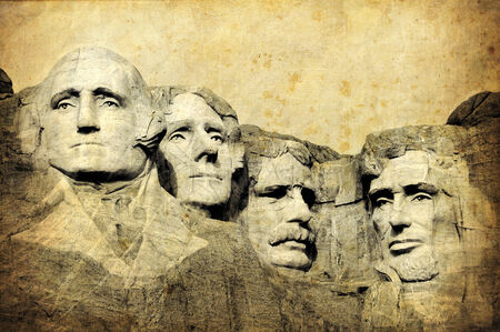 Mount Rushmore National Monument, South Dakota, United States, grunge version of my photo Editorial