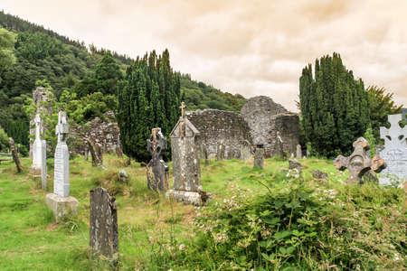 monastic sites: Old irish graveyard, Glendalough, Ireland