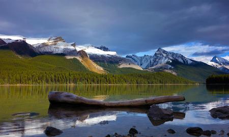 Sunset in Maligne lake, Jasper national park, Canada