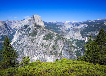 yosemite national park: Half Dome seen from Glacier Point, Yosemite National Park, USA