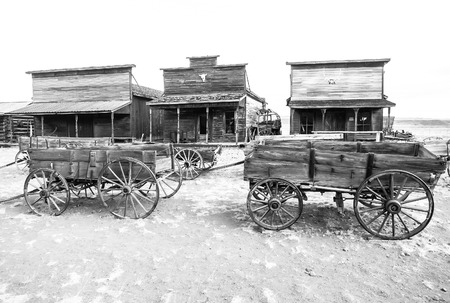 broken hill: Old west, Old trail town, Cody, Wyoming, USA Stock Photo
