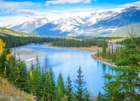 Hermoso paisaje canadiense, Alberta, Canadá Foto de archivo - 34336551