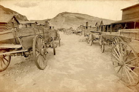 broken hill: Old west, Old trail town, Cody, Wyoming, United States, vintage version