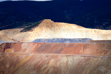 photojournalism: Open pit copper mine Butte, Montana, United States