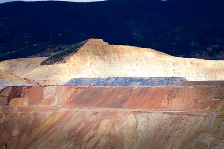 Open pit copper mine Butte, Montana, United States