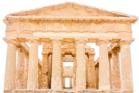 concordia: Agrigento, Sicily, Italy. Famous Valle dei Templi, UNESCO World Heritage Site. Greek temple - remains of the Temple of Concordia