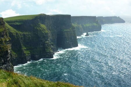 highest: Cliffs of Moher in County Clare, Ireland Stock Photo