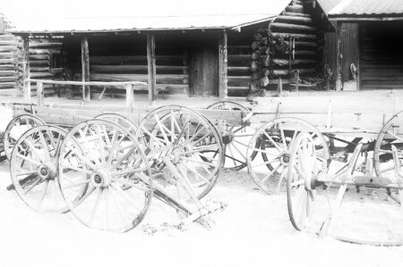 cody: Old west, Old trail town, Cody, Wyoming, USA Stock Photo