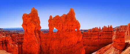 usa: The Bryce Canyon National Park, Utah, United States, panoramic view