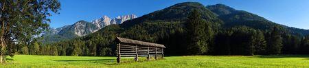gora: Alpine scene near Kranjska Gora, Slovenia, Europe Stock Photo