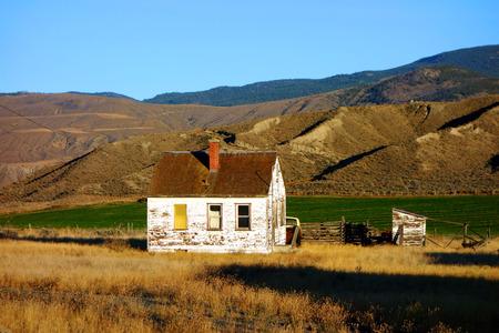 somewhere: Abandoned House somewhere in Canada Stock Photo