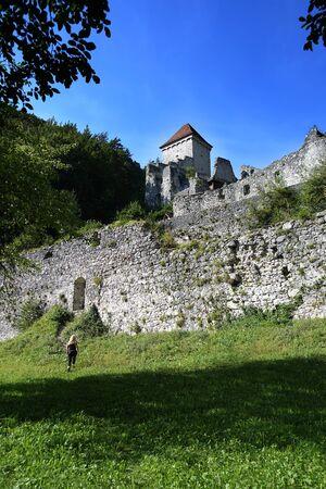 12th century: The 12th century ruined Kamen Castle, near Begunje na Gorenjskem, Slovenia, Europe Editorial