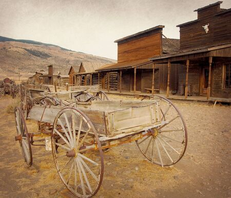 cody: Old west, Old trail town, Cody, Wyoming, United States, vintage version